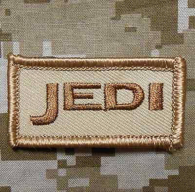 JEDI US ARMY TAB USA MILITARY INFIDEL BADGE DESERT VELCRO® BRAND FASTENER PATCH