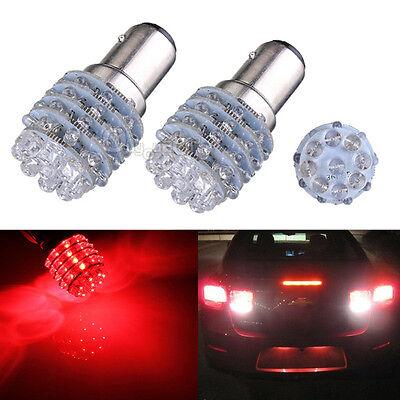 2pcs BAY15D 1157 1016 P21/5W T25 Red 45 LED Car Tail Stop Light Bulb Lamp 12V