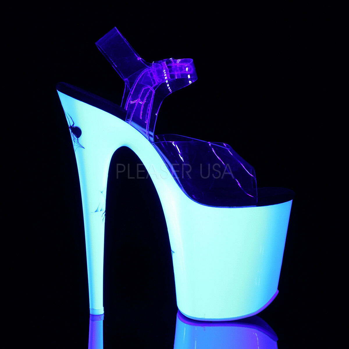 PLEASER Sexy 8  Heel Stripper Dancer Blacklight Reactive Reactive Reactive Spider Platform shoes 5349af