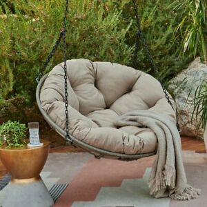 Image Is Loading Papasan One Person Tufted Cushion Hanging Porch Swing