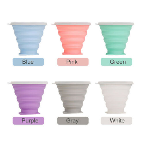 Foldable Water Cup Bowl Silicone Travel Drink Mug Outdoor Camping Hiking Bottle