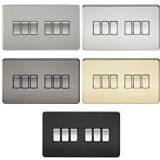 2 x Knightsbridge Blanc Simple Interrupteur de lumière 1 Gang 1 Way