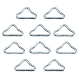 30 Pieces Stainless Steel Triangle Rings Buckle for Trampoline Mat Repair