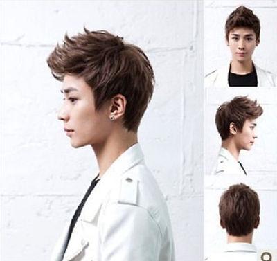 Handsome boys wig Korean fashion men's short false hair Cosplay wigs 3 Colours