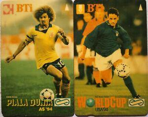 Malaysia Used Phone Cards - 2 pcs World Cup USA 1994