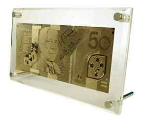 174d6901606 Image is loading Australian-50-Note-Replica-in-24-Carat-Gold