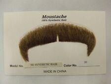 Hand Made Moustache ~ M1 ~ English ~ Villan ~ 30 ~ medium red brown  NEW