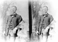 ANTIQUE 8 x 5  GLASS PHOTO NEGATIVE -- 1860-1890 - CONFIDENCE +++
