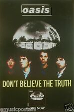 """OASIS """"DON'T BELIEVE THE TRUTH"""" HONG KONG PROMO POSTER + STICKERS"""