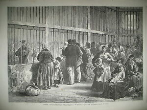 PARIS-ST-LAZARE-LES-COMMUNARDES-RUINES-RUE-DE-LILLE-ET-LA-BASTILLE-GRAVURES-1871