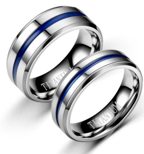 2 elegante Partnerringe Silber Blau Freundschaftsring Hochzeit Verlobung