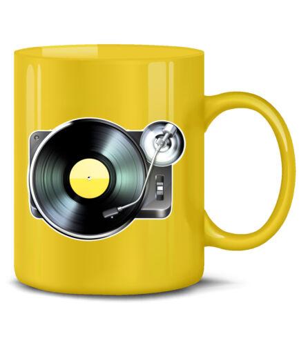 DJ Teetasse TURNTABLE // PLATTENSPIELER KaffeeBecher Party Musik