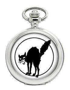 Anarchist-Schwarze-Katze-Symbol-Taschenuhr