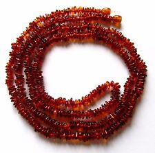 Genuine Baltic amber necklace, 95-100 cm long, cognac natural shape nuggets