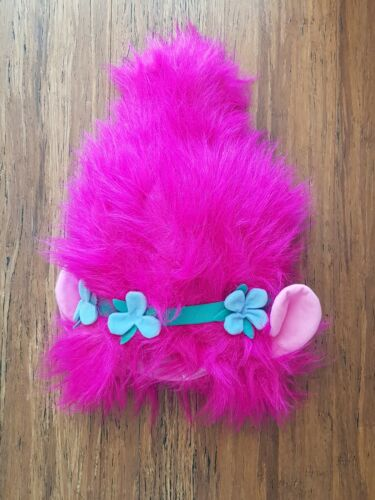 Trolls Poppy Pink Wig Hat Cap Hair Dress Up Costume Accessory Halloween 22/""