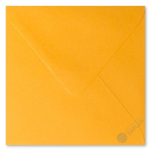 25x Briefumschläge feuchtklebend Orange 16,0x16,0cm 160x160mm