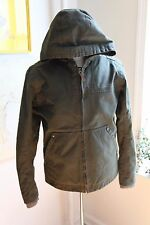 NWOT Timberland Canvas and Fleece Hooded Jacket Olive Green size Small