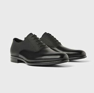Us Título Hombre 43 Pisos Cordones Con Eur10 Detalles Original Vestir Clásico Oxford Inteligentes Talla Zara De Acerca Negro Mostrar Zapatos 7gybY6fv