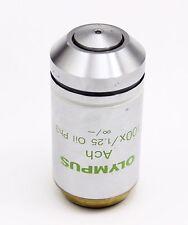 Olympus Ach 100x 125 Oil Ph3 Phase Contrast Microscope Objective Cx Ax Bx Ix