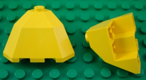 LEGO Lot of 2 Yellow 3x3x2 Top Facet Brick Parts and Pieces