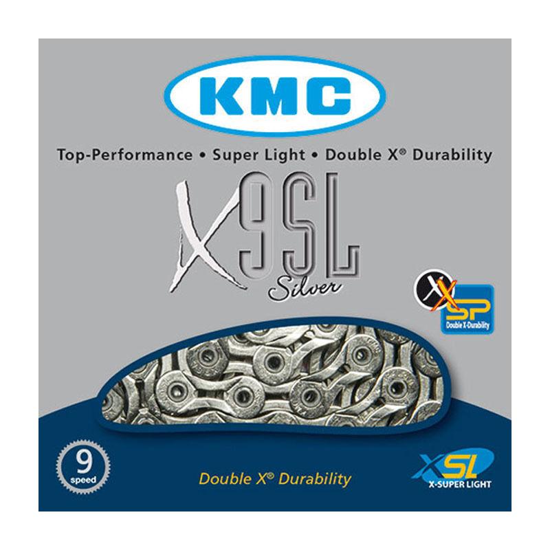 KMC Fahrrad Kette / Schaltungskette X-9-SL X-Chain 9-fach Hohlbolzen 116 Glieder