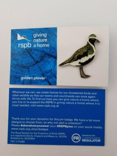01502 RSPB Pin Badgegolden plover  GNAH BLUE