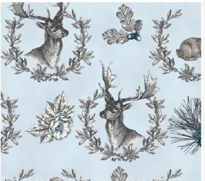 Rustic Refined Sage green by Hoffman Fabrics. Laurel Wreathed Animals