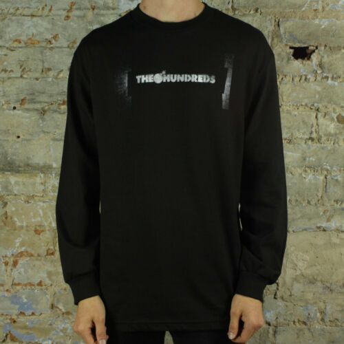 The Hundreds Stencil Bar L//S T-shirt Black in Size S,M,L