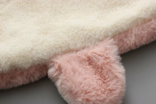 Baby Girls Luxury Fur Coat Winter Jacket Warm Overcoat Fleece Cute Thick Hooded