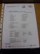 15/09/2015 PSV Eindhoven Youth U19 v Manchester United Youth U19 [UEFA Youth Lea
