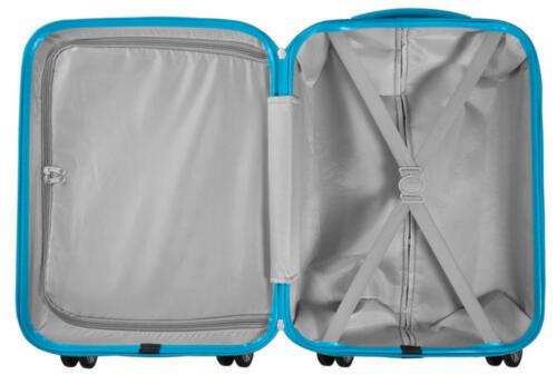 ABS Koffer-Hartschale Santorin attraktives Design in Schwarz-Blau Gr XL