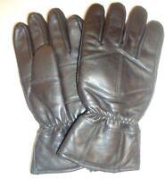 Men's Thinsulate Insulated  Genuine Leather Biker Gloves,Black,L