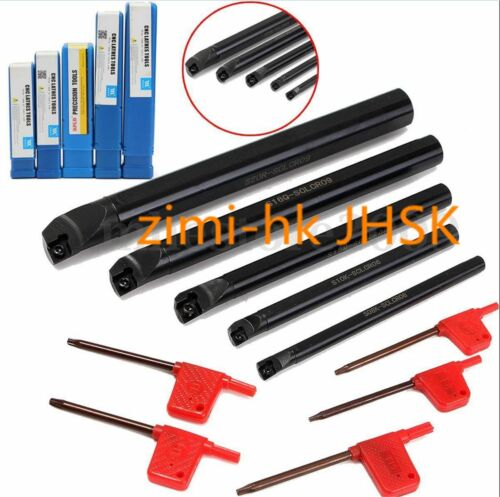 Lathe Boring Bar Turning Holder CNC 5* S08K//S10K-SCLCR06+S12M//S16Q//S20R-SCLCR09