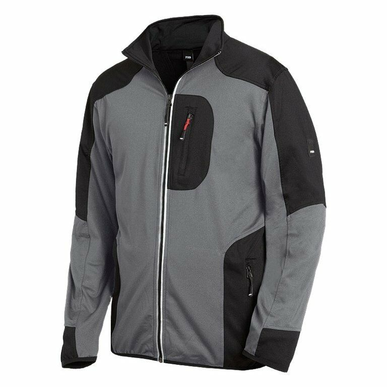 FHB Jersey-Fleece-Jacke RALF anthrazit-schwarz Gr.2XL Funsport Airsoft