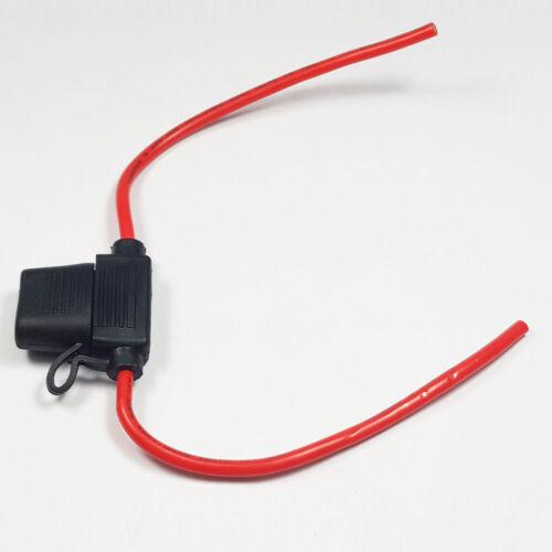 In Line Standard Blade Fuse Holder Splash Proof All Types and Quantities Car Van