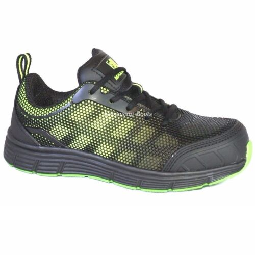 MENS ULTRA LIGHTWEIGHT BLACK WORK STEEL TOE CAP SAFETY SHOES TRAINERS BOOTS SIZE