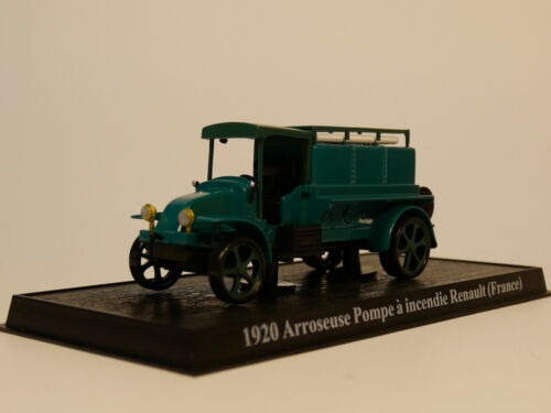 1:64 France  Fire Truck Arroseuso pompe a incendie renault 1920 Diecast model