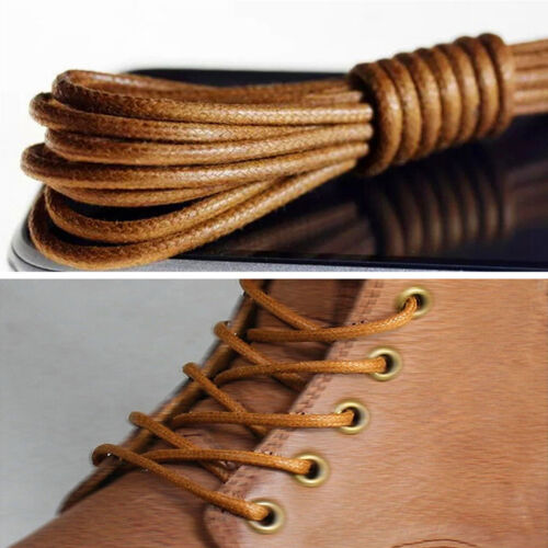 Details about  /Men Wemen Thin Wax Shoe Laces Shoelace Waxed String for Leather Boot BroguesDnh5