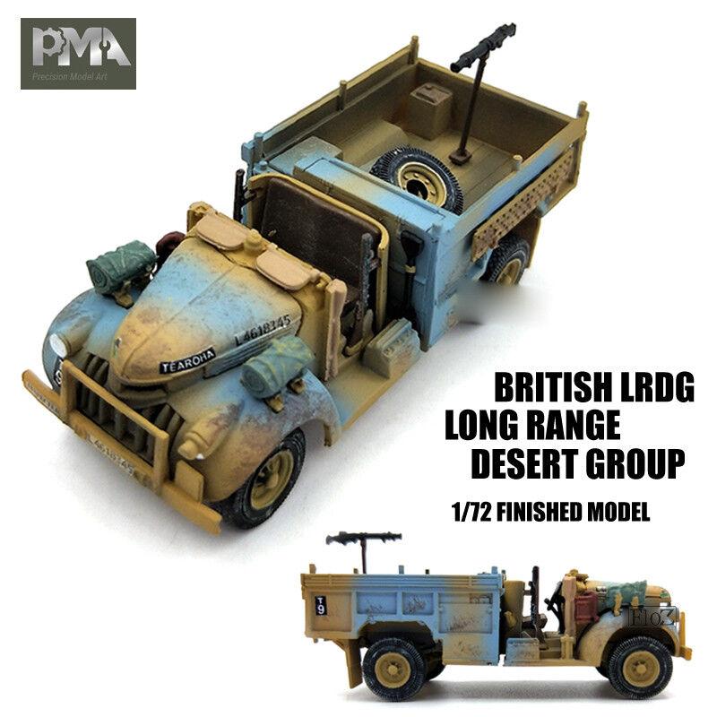 WWII BRITISH LRDG Long Range Desert Group 1 72 NON DIECAST MODEL Jeep PMA