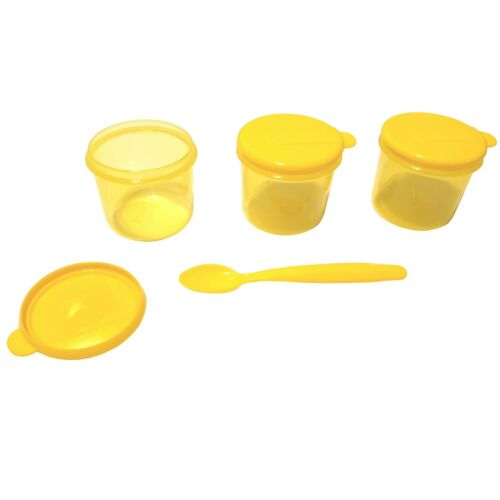 6 x Baby Weaning Food Storage Pots /& 2 Spoons Toddler Travel Snack Lunch Box