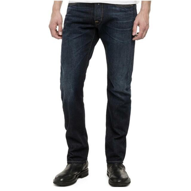 38//L32 M983 Dark W11807007 Regular Slim Replay Men Jeans Waitom W30 W32 W34 W36
