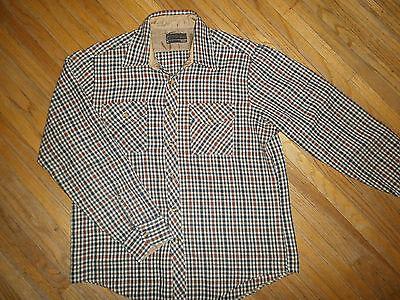 Bello Vintage Sears Sportswear Acrilico Camicia Di Flanella Plaid Grunge Lumberjack