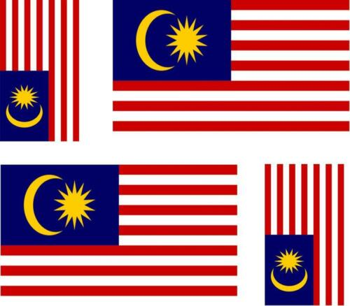 4 x flag decals sticker bike scooter car vinyl helmet motorcycle malaysia
