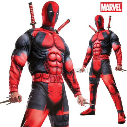 DEADPOOL Deluxe Marvel Costume Licensed Rubies Adults Muscle X-Men SuperHero XL