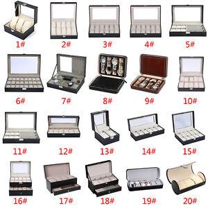 Leather-Watch-Glasses-Jewelry-Storage-Bracelet-Box-Holder-Necklace-Organizer