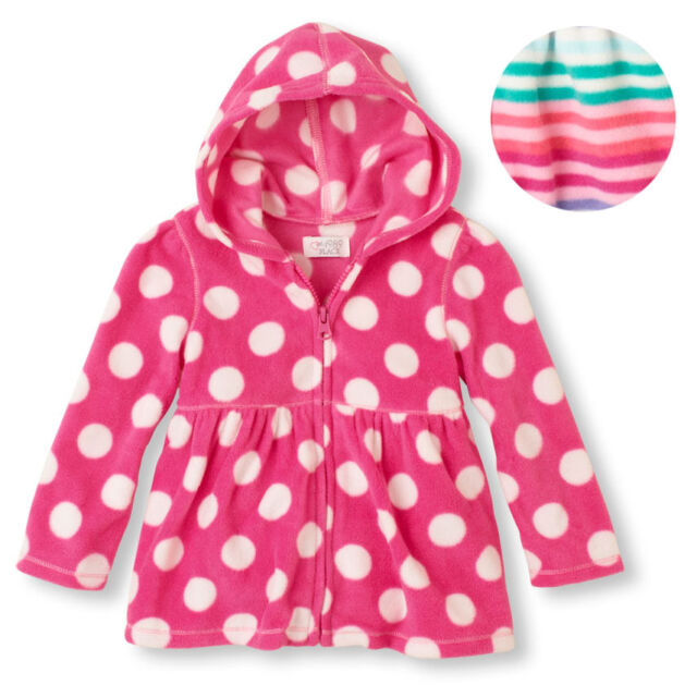 89275e332501e The Children's Place Baby Toddler girl pink microfleece Zip up hoodie  jacket 1pc