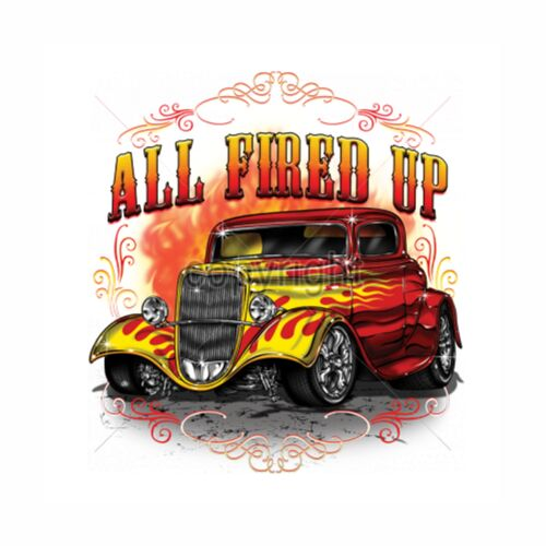 Giacca in Felpa con un Hot Rod- /&/' 50 Style motivo modello all Fired Up US Car