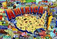 Buffalo Games 2000 Piece: Vintage America - 2000 Piece Jigsaw Puzzle By Buffalo