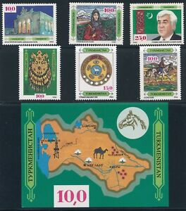 WHOLESALE-LOT-TURKMENISTAN-100-SETS-2-7-amp-9-S-S-MNH-CV-1250
