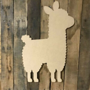 Details About Wood Llama Shape Unfinished Shape Wood Cutout Wooden Paintable Craft